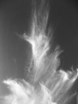 Wolken fliehen